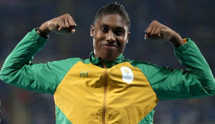Caster Semenya has won the Olympic 800m title twice and the world title three times - GETTY IMAGES