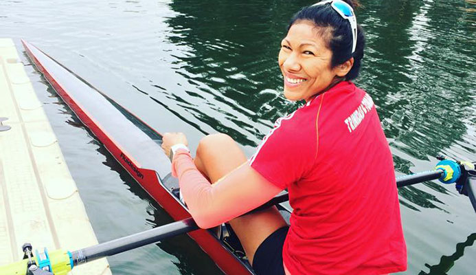 TT rower Felice Chow. PHOTO VIA BAIR ISLAND AQUATIC CENTRE.